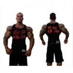 Rich Piana Ribbed Tank Top Black with Red Logo (011)