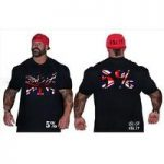 Rich Piana 5% Nutrition – Black T-Shirt Union Jack Design (093)